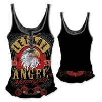 Lethal Angel Women's Fast n Free Eagle Lace Up Black Tank