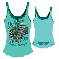 Lethal Angel Women's Renegade Lace Up Turquoise Tank