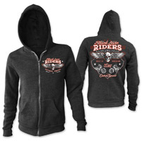 Lethal Angel Women's Black Lace Riders Black Zip Hoodie