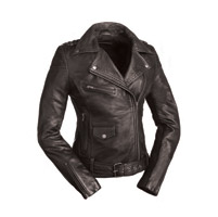 First Manufacturing Co. Women's Iris Black Leather Jacket