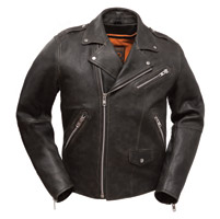 First Manufacturing Co. Men's Enforcer Anthracite Leather Jacket