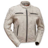 First Manufacturing Co. Men's Warrior King Oil Sand Leather Jacket