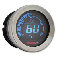 Koso 2″ Chrome Ambient Air Temperature Gauge