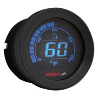 Koso 2″ Black Ambient Air Temperature Gauge