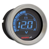 Koso 2″ Chrome Voltmeter Gauge