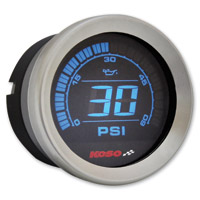 Koso 2″ Chrome Oil Pressure Gauge