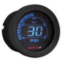 Koso 2″ Black Oil Pressure Gauge