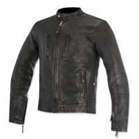 Alpinestars Oscar Men's Brass Black Leather Jacket