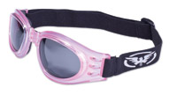 Global Vision Eyewear Adventure Pink Goggles with Smoke Lens