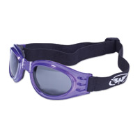 Global Vision Eyewear Adventure Purple Goggles with Smoke Lens