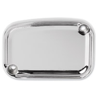 Arlen Ness Chrome Slot Track Rear Master Cylinder Cover