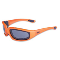 Global Vision Eyewear Kickback Orange Sunglasses wtih Smoke Lens