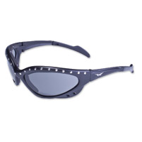 Global Vision Eyewear Neptune Stud Black Sunglasses with Smoke Lens