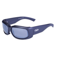 Global Vision Eyewear Prospect Black Sunglasses with Flash Mirror Lens