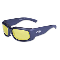 Global Vision Eyewear Prospect Black Sunglasses with Yellow Tint Lens