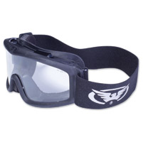 Global Vision Eyewear Ballistech 2 Black Goggles with Clear Lens