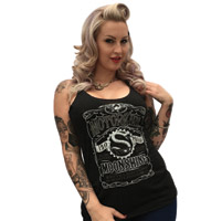 MotorCult Women's Moonshine Black Tank Top