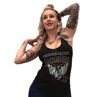 MotorCult Women's Wheels Black Tank Top