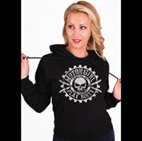 MotorCult Women's Play Dirty Black Hoodie