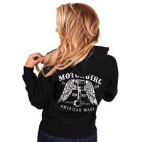 MotorCult Women's Loud And Fast Black Hoodie
