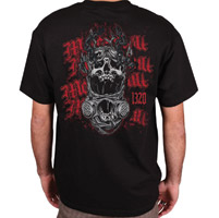 MotorCult Men's Screamin' Black T-Shirt