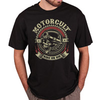 MotorCult Men's Ride Or Die Black T-Shirt