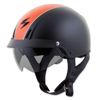Scorpion EXO EXO-C110 Split Black/Orange Half Helmet