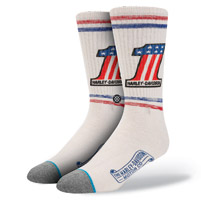 Stance Men's Harley Davidson Number One White Socks
