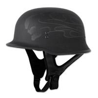 FLY 9MM Ghost Flame Black Half Helmet