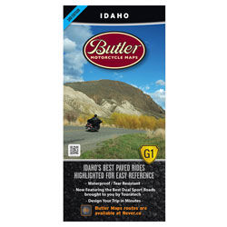 Butler Maps G1 Idaho Motorcycle Map