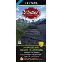 Butler Maps G1 Montana Motorcycle Map
