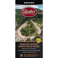 Butler Maps G1 Oregon Motorcycle Map