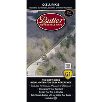 Butler Maps G1 Ozarks Motorcycle Map