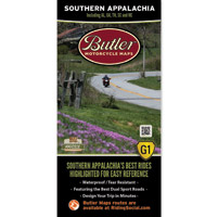 Butler Maps G1 Southern Appalachia Motorcycle Map