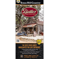 Butler Maps G1 Texas Hill Motorcycle Map