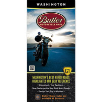 Butler Maps G1 Washington Motorcycle Map