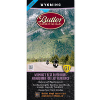 Butler Maps G1 Wyoming Motorcycle Map