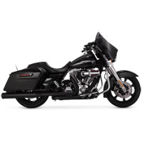 Vance & Hines Eliminator 400 Slip Ons Black with Black End Caps