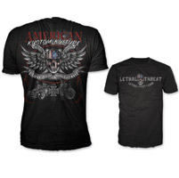 Lethal Threat Men's Love It Or Leave It Black T-Shirt