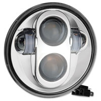 PathfinderLED 5-3/4″ LED Chrome Projector Headlight