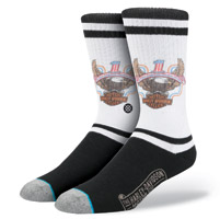 Stance Men's Harley Davidson Iron Steed White/Black Socks