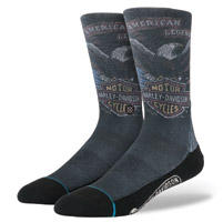 Stance Men's Harley Davidson Shovel Head Gray Socks
