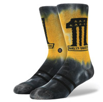 Stance Men's Harley Davidson Panhead Black/Yellow Socks