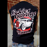 Sick Boy Sickie's Garage Men's Car Black Sleeveless Tee