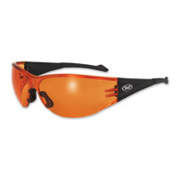 Global Vision Eyewear Full Throttle C Sunglasses with Orange Lens