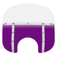 Memphis Shades Memphis Fats 13″ Tall Gradient Purple Windshield 7″ Headlight