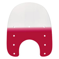 Memphis Shades 15″ Tall Gradient Ruby Replacement Plastic for Slims 7″ Headlight