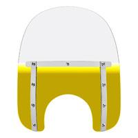 Memphis Shades Memphis Slims 15″ Tall Gradient Yellow Windshield 5-3/4″-7″ Headlight