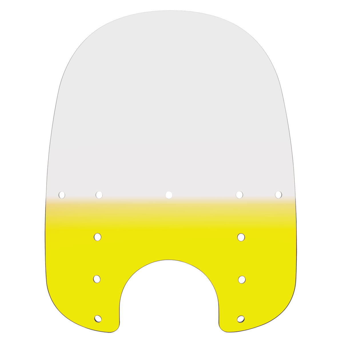 Memphis Shades 19″ Tall Gradient Yellow Replacement Plastic for Fats 7″ Headlight
