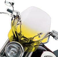 Memphis Shades Hell Cat Gradient Yellow Handlebar Mount Windshield